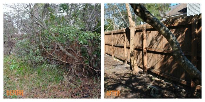 The Busy Momma Before After Fence Repair